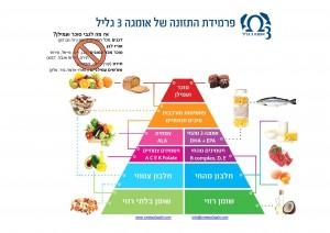 פרמידת המזון של אומגה 3 גליל
